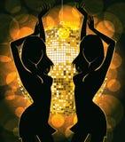 Dansende silhouetten Stock Foto's