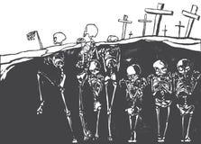 Dansende Skeletten Royalty-vrije Stock Foto