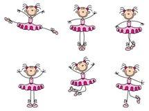 Dansende stokvrouw Stock Afbeelding