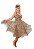 Dansende verleidelijke jonge vrouw Royalty-vrije Stock Foto's