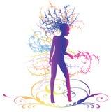 Dansende vrouw 02 Royalty-vrije Stock Afbeelding