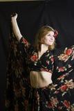 Dansende vrouw Stock Foto