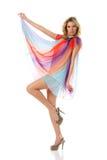 Dansende vrouw Royalty-vrije Stock Afbeelding