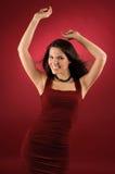 Dansende vrouw. Stock Foto