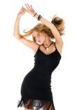 Dansende vrouw Royalty-vrije Stock Afbeeldingen