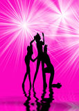 Dansende Vrouwen Stock Foto's
