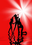 Dansende vrouwen   Royalty-vrije Stock Foto's