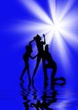 Dansende vrouwen Stock Foto