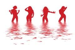 Dansende vrouwen Royalty-vrije Stock Afbeeldingen