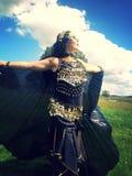 Dansende zwarte mantel Royalty-vrije Stock Fotografie