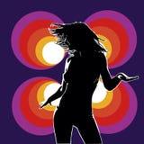 Danser 01 van de club viola schreeuwt Royalty-vrije Stock Fotografie