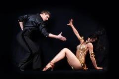 Danser in actie royalty-vrije stock afbeelding