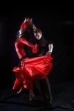 Danser in actie Royalty-vrije Stock Foto