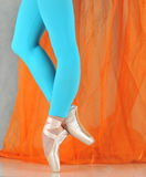 Danser in ballet pointe royalty-vrije stock afbeeldingen