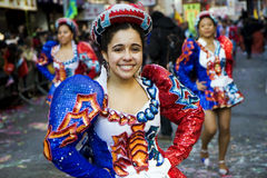 Danser bij een parade Royalty-vrije Stock Foto
