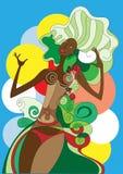 Danser in Carnaval royalty-vrije illustratie