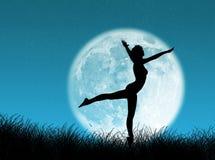 Danser in de maan Stock Afbeeldingen