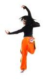 Danser in de sprong Royalty-vrije Stock Afbeeldingen