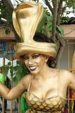 Danser in een fiesta in Cartagena, Colombia Stock Afbeeldingen