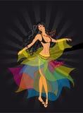 Danser, een zigeuner Royalty-vrije Stock Afbeeldingen