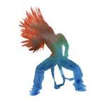 Danser in hiphop geïsoleerd watercolor Royalty-vrije Stock Foto's