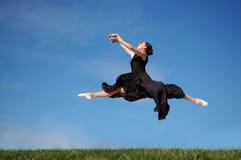 Danser jumpimp Stock Foto