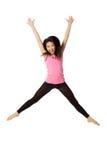 Danser Jumping en het Lachen Stock Afbeeldingen