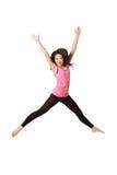 Danser Jumping en het Lachen Royalty-vrije Stock Fotografie