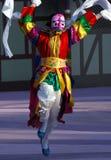 Danser met roze masker Stock Fotografie
