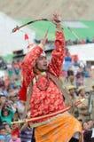 Danser op Festival van Erfenis Ladakh royalty-vrije stock afbeeldingen