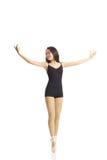 Danser Posing Engelse Pointe (deelt uit) Royalty-vrije Stock Afbeeldingen