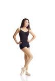 Danser Posing in Pointe-Schoenen Royalty-vrije Stock Foto's