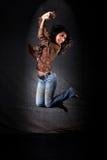 Danser in sprong stock afbeeldingen