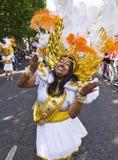 Danser van de School Paraiso van de vlotter van de Samba Royalty-vrije Stock Fotografie