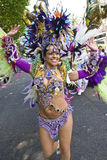 Danser van de School Paraiso van de vlotter van de Samba Stock Foto