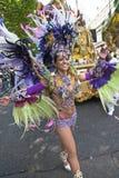 Danser van de School Paraiso van de vlotter van de Samba Royalty-vrije Stock Foto's