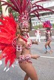 Danser van de School Paraiso van de vlotter van de Samba Stock Foto's