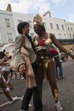 Danser van de vlotter van Carnaval van het Ontstaan Stock Afbeeldingen