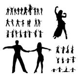 dansers剪影 图库摄影