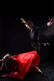 Dansers in actie Stock Foto