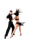Dansers in actie Stock Afbeelding