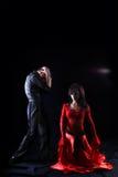 Dansers in actie Stock Foto's