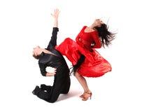Dansers in actie royalty-vrije stock afbeeldingen