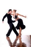 Dansers in balzaal Stock Afbeelding