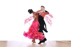Dansers in balzaal royalty-vrije stock foto's