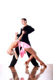 Dansers in balzaal in actie Royalty-vrije Stock Foto's