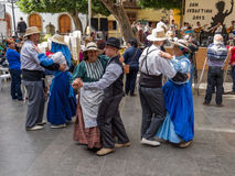 Dansers bij Canarische Eilandenfestival Stock Foto