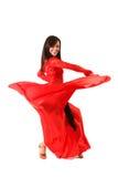 Dansers die op wit worden geïsoleerdv Royalty-vrije Stock Afbeeldingen