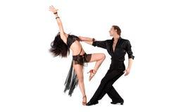 Dansers die op wit worden geïsoleerdg Royalty-vrije Stock Afbeelding