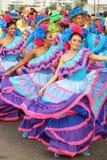 Dansers in een fiesta in Cartagena, Colombia Stock Fotografie
